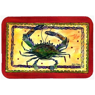 East Urban Home Rectangle Red/Yellow Crab Glass Cutting Board
