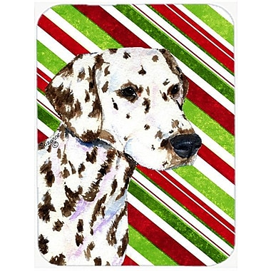 East Urban Home Dalmatian Candy Cane Holiday Christmas Tempered Glass Cutting Board