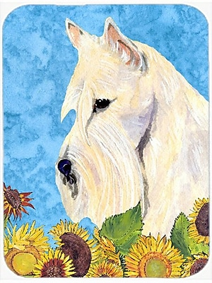 East Urban Home Scottish Terrier and Sunflower Glass Cutting Board