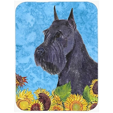 East Urban Home Schnauzer and Sunflower Glass Cutting Board