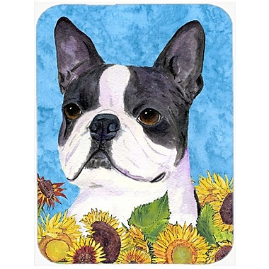 East Urban Home Boston Terrier Glass Cutting Board