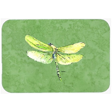 East Urban Home Dragonfly Green Glass Cutting Board