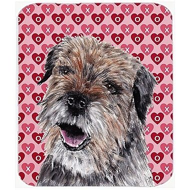 East Urban Home Border Terrier Valentine's Love Glass Cutting Board