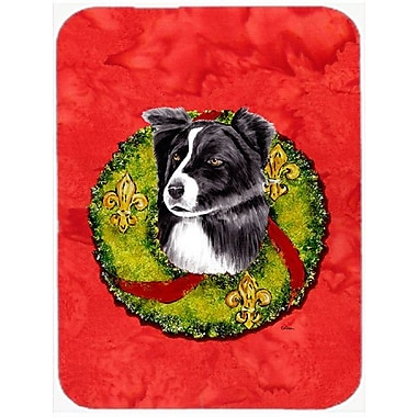 East Urban Home Border Collie Rectangle Glass Cutting Board