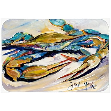 East Urban Home Blue Crab Tempered Glass Cutting Board