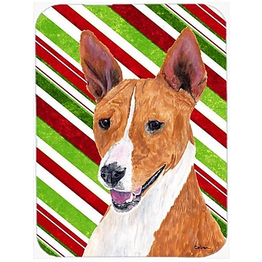 East Urban Home Basenji Candy Cane Holiday Christmas Glass Cutting Board