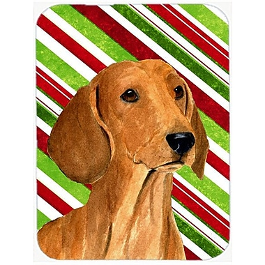 East Urban Home Dachshund Candy Cane Holiday Christmas Unbreakable Glass Cutting Board