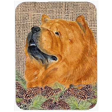 East Urban Home Chow Chow and Pine Cone Glass Cutting Board