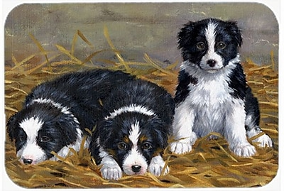 East Urban Home Border Collie Puppies Glass Cutting Board