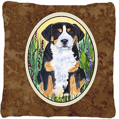 East Urban Home Greater Swiss Mountain Dog Square Indoor/Outdoor Throw Pillow