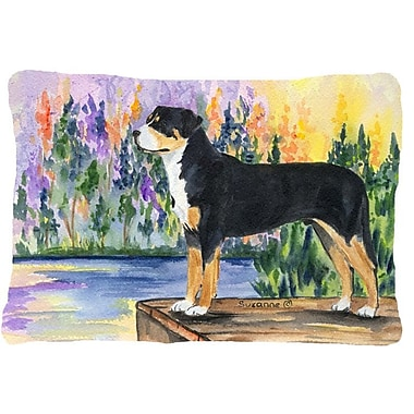 East Urban Home Greater Swiss Mountain Dog Indoor/Outdoor Throw Pillow
