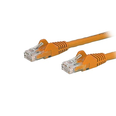 StarTech.com Cat6 Ethernet Patch Cable with Snagless RJ-45 Connectors, 6 ft, Orange (N6PATCH6OR)