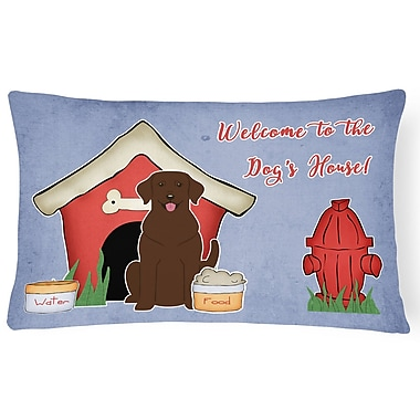 East Urban Home Dog House Contemporary Indoor/Outdoor Graphic Print Lumbar Pillow