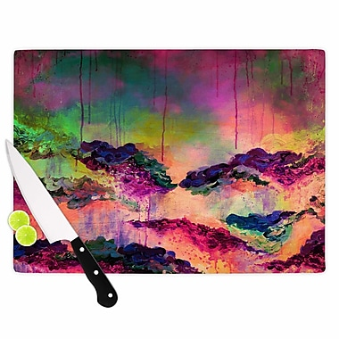 East Urban Home Ebi Emporium Glass 'It's a Rose Color Life 3' Cutting Board