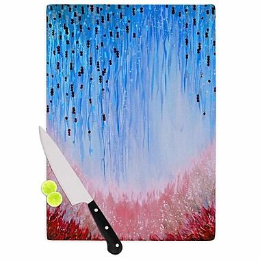 East Urban Home Ebi Emporium Glass 'Mystic Garden 3' Cutting Board; 0.25'' H x 15.75'' W x 11.5'' D
