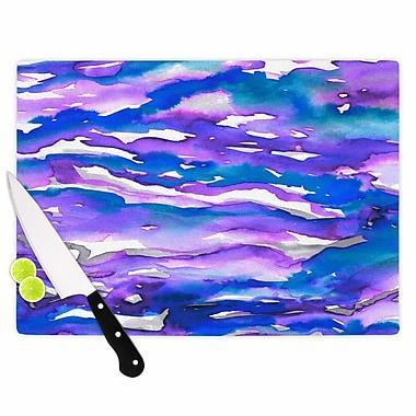 East Urban Home Ebi Emporium Glass 'Flutter' Cutting Board; 0.25'' H x 15.75'' W x 11.5'' D