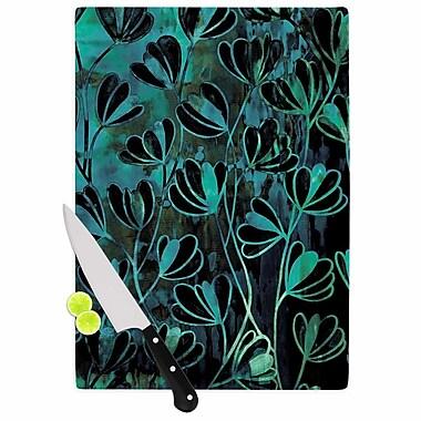 East Urban Home Ebi Emporium Glass 'Efflorescence Night Blossoms' Cutting Board