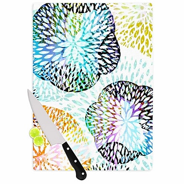 East Urban Home Jessica Wilde Glass 'Tropical Flora Abstract' Cutting Board