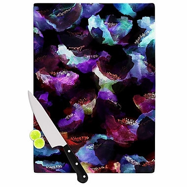 East Urban Home Jessica Wilde Glass 'Watercolour Poppy Abstract' Cutting Board