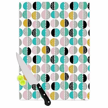 East Urban Home Jessica Wilde Glass 'Carnival Stripe' Cutting Board; 0.25'' H x 11.5'' W x 8.25'' D
