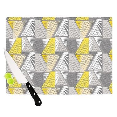 East Urban Home Gill Eggleston Glass 'Linford' Cutting Board; 0.25'' H x 11.5'' W x 8.25'' D
