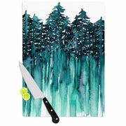 East Urban Home Ebi Emporium Glass 'Forest Through the Trees 5' Cutting Board