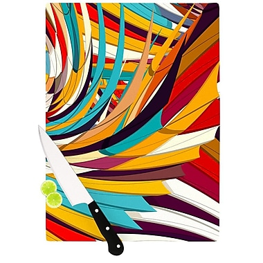 East Urban Home Danny Ivan Glass 'Demy World' Cutting Board; 0.25'' H x 15.75'' W x 11.5'' D