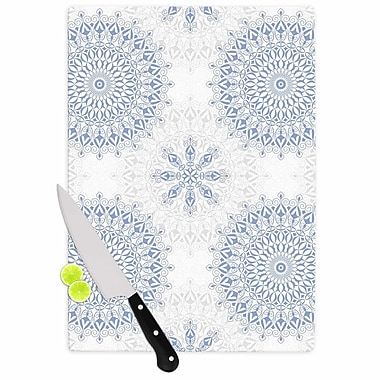 East Urban Home Julia Grifol Glass 'Mandalas Vector Geometric' Cutting Board