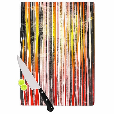 East Urban Home Frederic Levy Hadida Glass 'Chocolate Stripes Illustration' Cutting Board