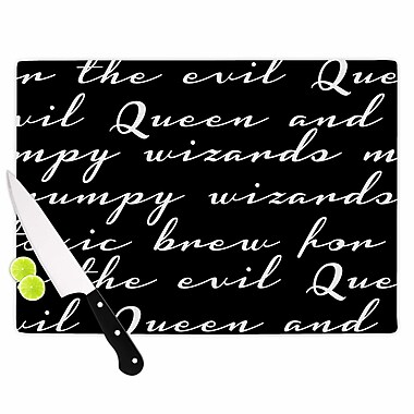 East Urban Home Jackie Rose Glass 'Grumpy Wizards Typography' Cutting Board