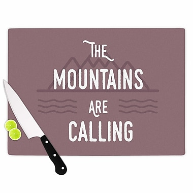 East Urban Home Jackie Rose Glass 'the Mountains Are Calling Typography' Cutting Board