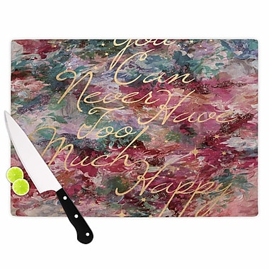East Urban Home Ebi Emporium Glass 'Too Much Happy 1 Painting' Cutting Board
