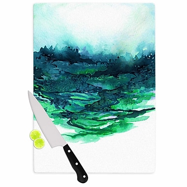 East Urban Home Ebi Emporium Glass 'the Long Road 7' Cutting Board; 0.25'' H x 11.5'' W x 8.25'' D