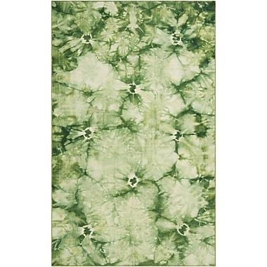 Ebern Designs Mahoney Green Area Rug; 5' x 8'