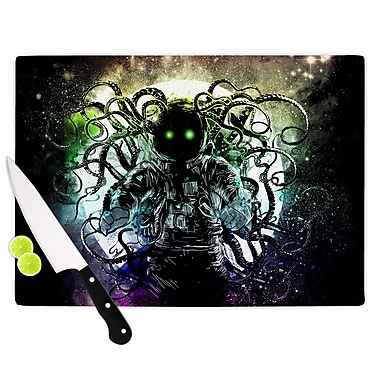 East Urban Home Frederic Levy Hadida Glass 'Terror From Deep Space' Cutting Board