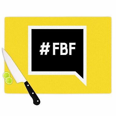 East Urban Home Glass 'Flash Back Friday' Cutting Board; 0.25'' H x 11.5'' W x 8.25'' D