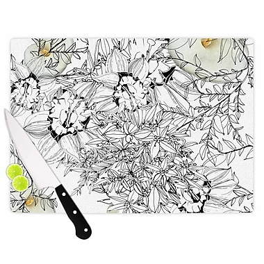 East Urban Home Danii Pollehn Glass 'Finebuqet' Cutting Board; 0.25'' H x 11.5'' W x 8.25'' D