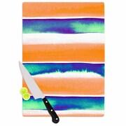East Urban Home Ebi Emporium Glass 'Summer Vibes 4' Cutting Board; 0.25'' H x 11.5'' W x 8.25'' D