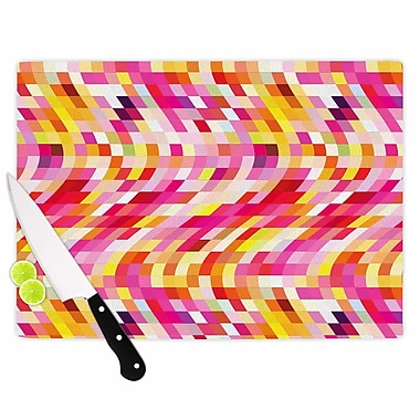 East Urban Home Dawid Roc Glass 'Colorful Geometric Movement 2 Geometric' Cutting Board