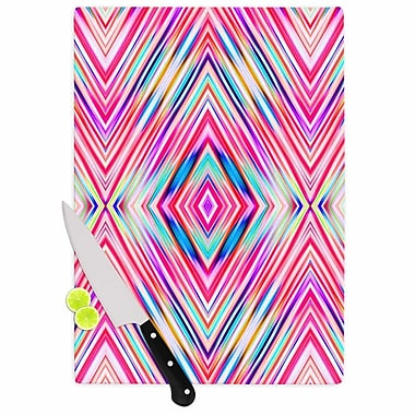 East Urban Home Dawid Roc Glass 'Modern Tribal Ethnic Ikat Geometric' Cutting Board