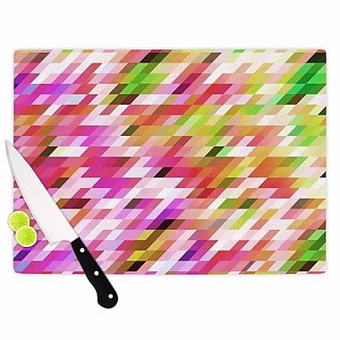 East Urban Home Dawid Roc Glass 'Spring Summer Geometric Digital' Cutting Board