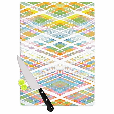 East Urban Home Frederic Levy Hadida Glass 'Losanges 2 Digital' Cutting Board
