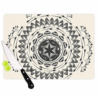 East Urban Home Famenxt Glass 'Boho Tribe Mandala' Cutting Board; 0.25'' H x 15.75'' W x 11.5'' D