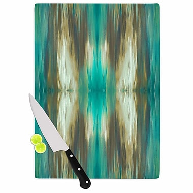 East Urban Home Ebi Emporium Glass 'Butterfly Tribal 4 Painting' Cutting Board