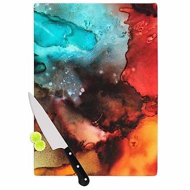 East Urban Home Abstract Anarchy Design Glass 'Birth Place of the Heavens Abstract' Cutting Board
