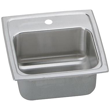Elkay Gourmet 15'' x 15'' Drop-In Kitchen Sink; No Hole