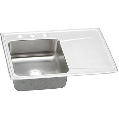 Elkay Gourmet 43'' x 22'' Drop-In Kitchen Sink; No Hole