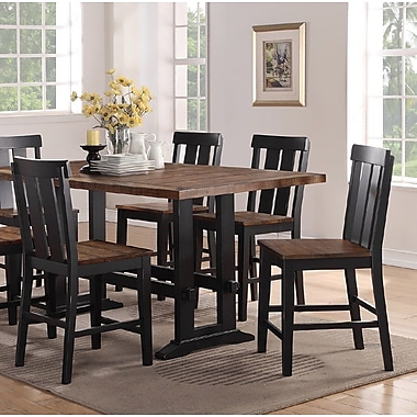 Gracie Oaks Goodman Counter Height Solid Wood Dining Chair (Set of 2)
