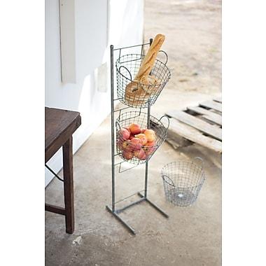 Gracie Oaks 3 Tiered Metal/Wire Basket