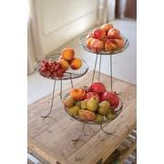Gracie Oaks Jacob Wire 3 Piece Fruit Basket